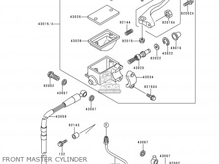 Kawasaki KLX250D2 KLXR 1994 USA parts lists and schematics