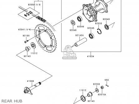 Kawasaki Klx250d4 Klx250r 1996 Europe Uk Fr parts list