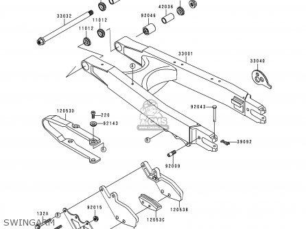 Kawasaki KLX250D4 KLX250R 1996 EUROPE UK FR parts lists