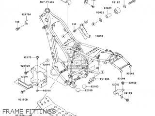 Kawasaki Klx250h6f Klx250s 2006 Usa Canada parts list