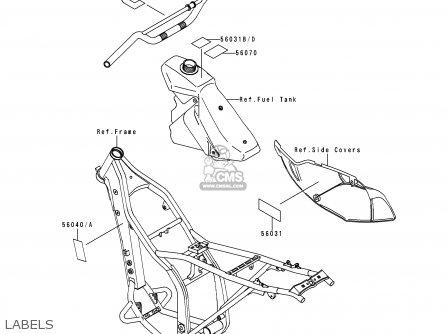 Kawasaki KLX300A4 KLX300R 1999 EUROPE FR parts lists and