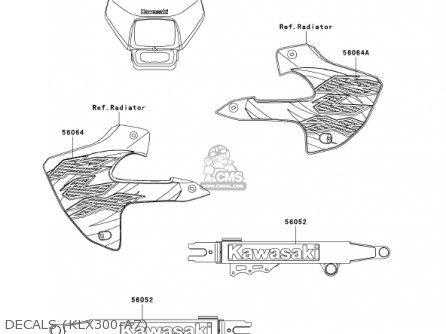 Kawasaki Klx300a7 Klx300r 2002 Usa California Canada parts