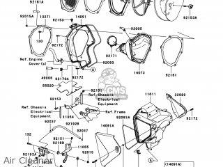 Kawasaki KLX450-A9F KLX450R 2009 USA parts lists and