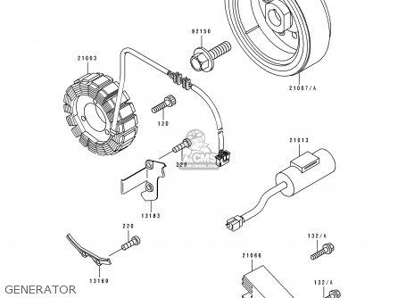 Kawasaki KLX650A1 KLX650R 1993 EUROPE parts lists and