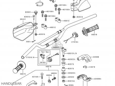 Kawasaki KLX650A2 1994 USA CALIFORNIA CANADA parts lists