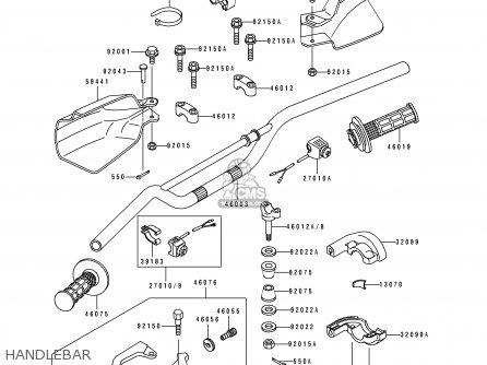 Kawasaki KLX650A3 KLX650R 1995 EUROPE FR parts lists and