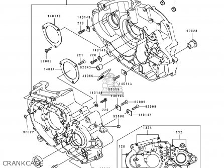 Kawasaki KLX650C2 1994 USA CALIFORNIA parts lists and
