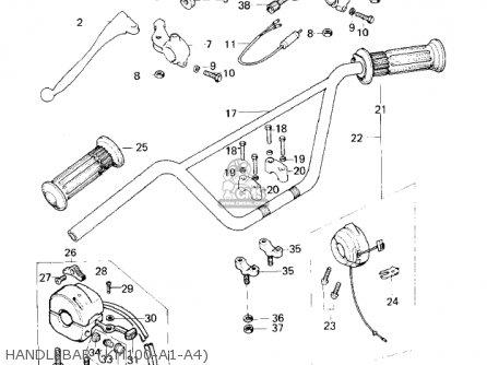 Kawasaki Km100-a1 1976 Usa Canada / Mph Kph parts list