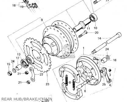 Kawasaki KM100-A1 1976 USA CANADA / MPH KPH parts lists