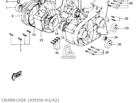 Kawasaki KM100-A2 1977 USA CANADA / MPH KPH parts lists