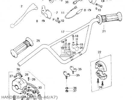 Kawasaki Km100-a2 1977 Usa Canada / Mph Kph parts list