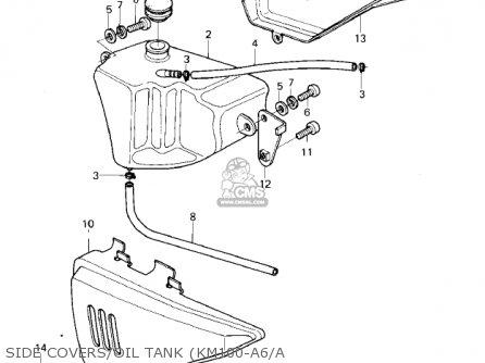 Kawasaki Km100-a6 Km100 1980 Usa Canada / Mph Kph parts