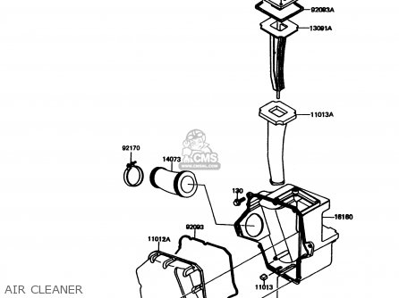 Kawasaki Kmx125-a11 1998 Europe Gr parts list partsmanual
