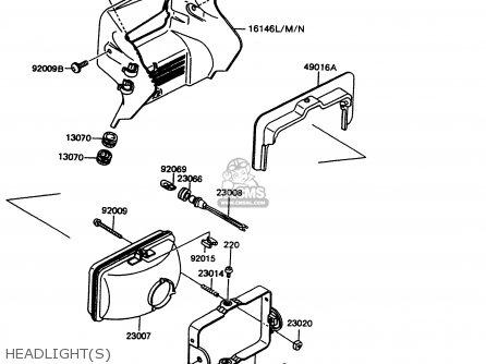 Kawasaki KMX125-A11 1998 EUROPE GR parts lists and schematics