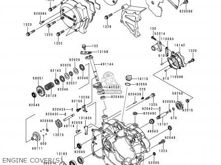 Kawasaki Kmx125-a12 1999 Mexico parts list partsmanual
