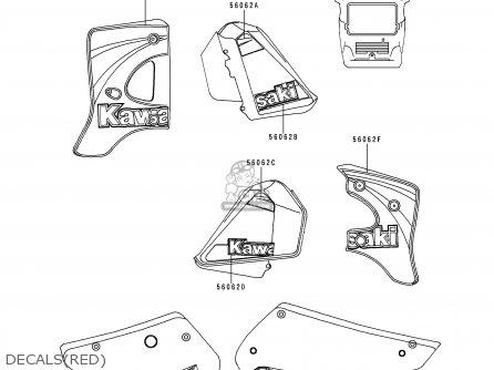 Kawasaki KMX125-A13 2000 MEXICO parts lists and schematics