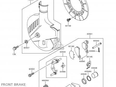 Kawasaki Kmx125-a13 2000 Mexico parts list partsmanual