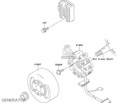 Kawasaki Kmx125-a14 Kmx125 2001 / Kph parts list