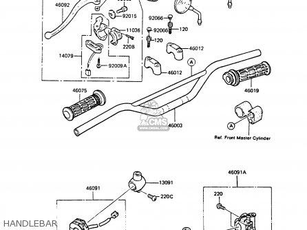 Kawasaki KMX125-A3 1988 EUROPE UK GR IT NR ST parts lists
