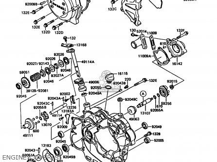 Kawasaki KMX125-A4 1989 EUROPE UK GR NR SD ST parts lists