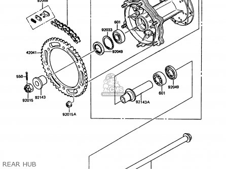 Kawasaki KMX125-A5 1990 EUROPE UK GR NR ST parts lists and