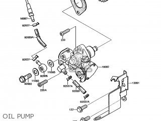 Kawasaki Kmx125-a6 1992 Europe parts list partsmanual