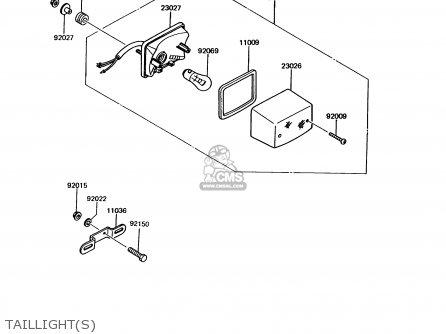 Kawasaki KMX125-A7 1993 GREECE parts lists and schematics