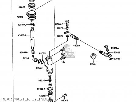 Kawasaki KMX125-B1 1986 UNITED KINGDOM FR parts lists and