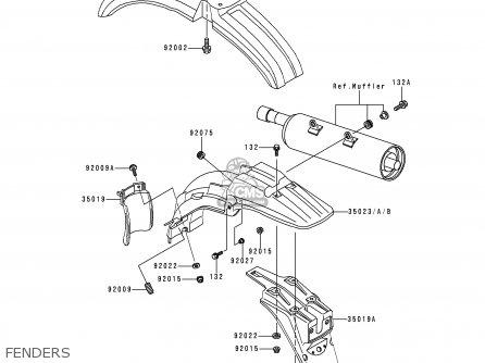 Kawasaki KMX125-B10 1999 UNITED KINGDOM FR FG parts lists