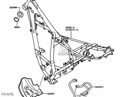 Kawasaki Kmx125-b2 1987 United Kingdom Fr parts list