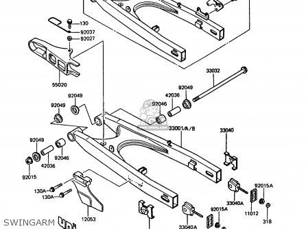 Kawasaki KMX125-B2 1987 UNITED KINGDOM FR parts lists and