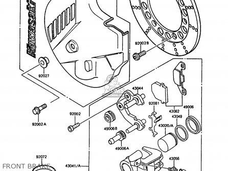 Kawasaki KMX125-B3 1988 UNITED KINGDOM FR parts lists and