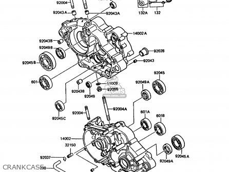 Kawasaki Kmx125-b4 1989 United Kingdom Fr parts list
