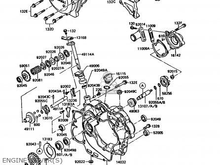 Kawasaki KMX125-B4 1989 UNITED KINGDOM FR parts lists and