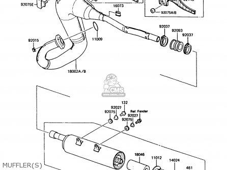 Kawasaki KMX125-B5 1990 UNITED KINGDOM FR SD parts lists
