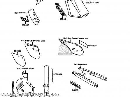 Kawasaki Kmx125-b6 1991 United Kingdom Fr Nr parts list