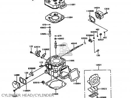 Kawasaki Kmx125-b7 1992 United Kingdom Fr Nr parts list