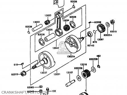 Kawasaki KMX125-B9 1998 UNITED KINGDOM FR FG parts lists