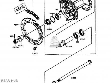 Kawasaki Kmx125-b9 1998 United Kingdom Fr Fg parts list
