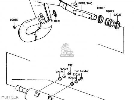 Kawasaki Kmx200-a2 1988 Europe Uk Fr Gr Hr Wg parts list