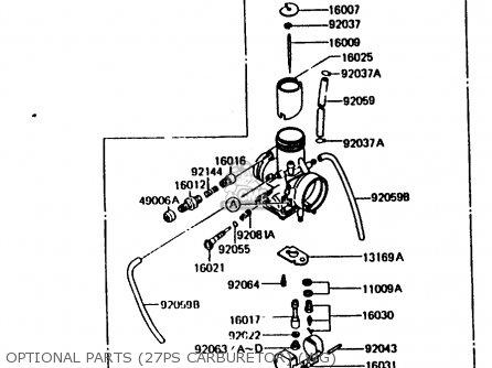 Kawasaki KMX200-A2 1988 EUROPE UK FR GR HR WG parts lists