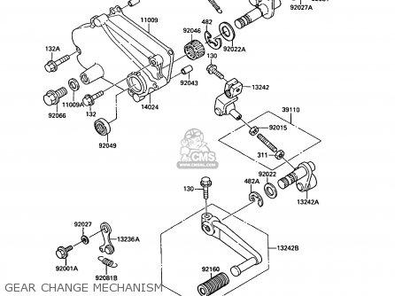Kawasaki KR250B2 KR1 1989 EUROPE UK FR GR IT parts lists