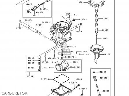 Kawasaki KSF250-A14 MOJAVE250 2000 USA CALIFORNIA parts
