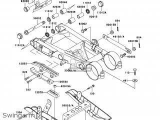 Kawasaki KSF250-A18 KFX250 MOJAVE 2004 USA parts lists and