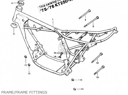 Kawasaki Kt250-a 1975 Usa / Mph parts list partsmanual