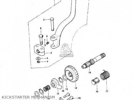Kawasaki Kt250-a 1975 Usa / Mph parts list partsmanual