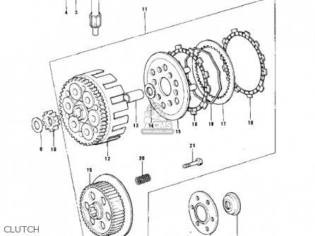 Kawasaki Kt250-a2 Trial 1976 Usa / Mph parts list