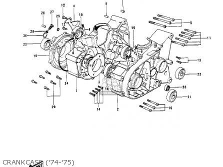 Kawasaki KV100-A7 1976 USA CALIFORNIA parts lists and
