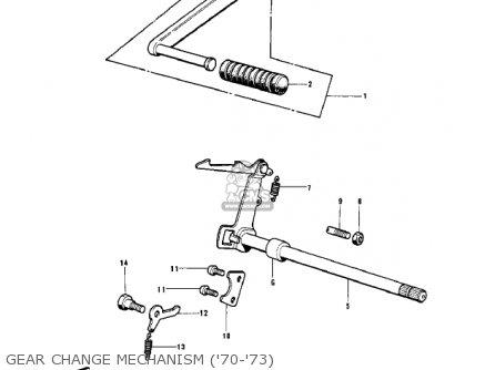 Kawasaki Kv100-a7 1976 Usa California parts list