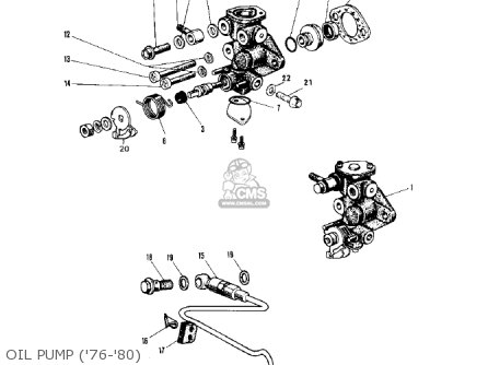 Kawasaki Kv75a5 1976 parts list partsmanual partsfiche